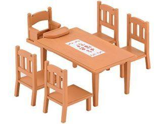 Sylvanian-Families-2933-Mesa-y-sillas-de-comedor-Importado-de-Alemania-0