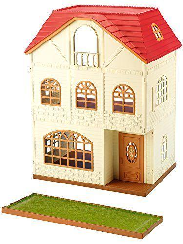 casa de 3 plantas con cedro y terraza de sylvanian