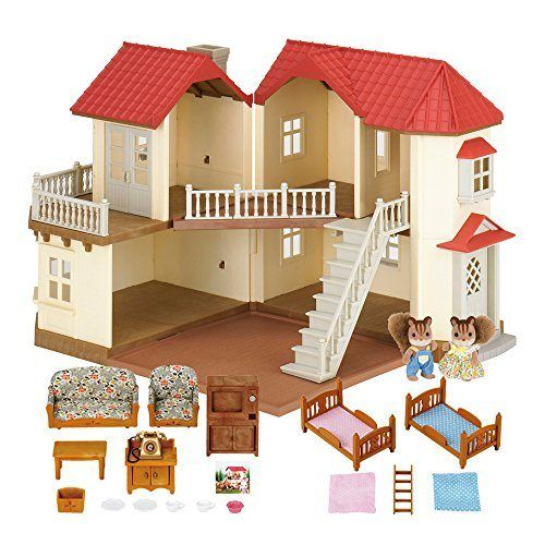 Sylvanian-Families-Casa-de-muecas-con-2-caracteres-mobiliario-e-iluminacin-5171-0-5
